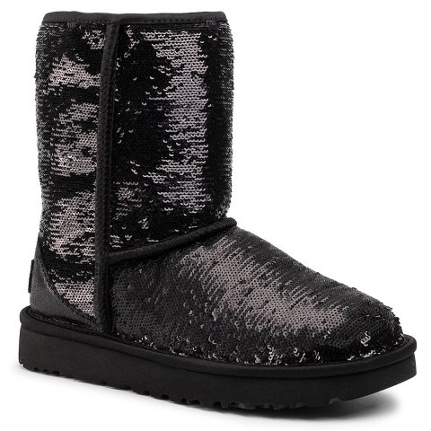 Boty UGG - W Classic Short Cosmos Sequin 1103796  Bkgm (39)
